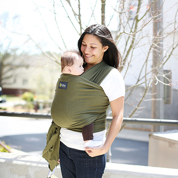 Boba Baby Wrap Dark Olive Green Huggle Baby Carriers