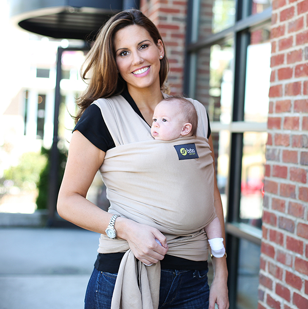 8a15789adc8 Boba Organic Baby Wrap - KHAKI - Huggle Baby Carriers