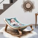 Levo Ergonomic Baby Rocker – Aruba Blue ( Sea Green) with Beech by Charlie Crane France (with Free Shipping)