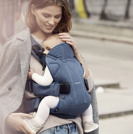 8ba4646b973 BABYBJÖRN Baby Carrier One – New Version-Free Shipping -Denim Midnight Blue  Cotton