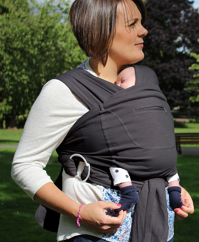 Caboo Baby Carrier Wrap Totally Taupe Huggle Baby Carriers